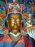 a beautiful statue of Padmasambhava